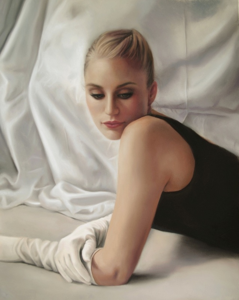 Pastel figure painting by artist Marie Donato